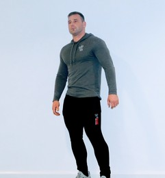 Men's Slim Fit Black Joggers