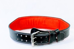Padded Leather Weightlifting Belt
