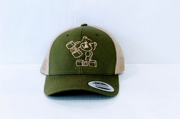 Trucker Cap (Moss Green and Khaki)