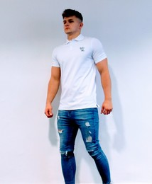 Men's Muscle Fit Polo Shirt (White)