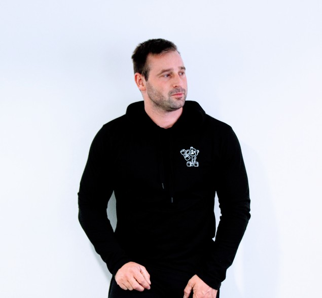 Men's Hoodie Top (Black)