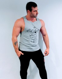 Handmade Gym Vest (Grey)