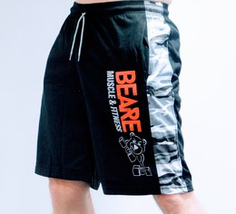 Mens black and grey camo board shorts