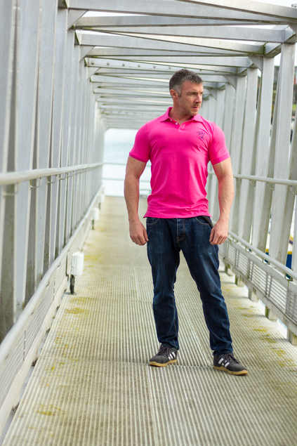 Men's Muscle Fit Polo Shirt (Pink)