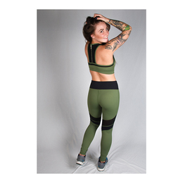 Ladies' Sports Leggings (Khaki and Black)